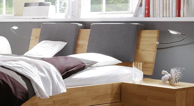 Schubkasten-Doppelbett Manchester mit Kopfteil