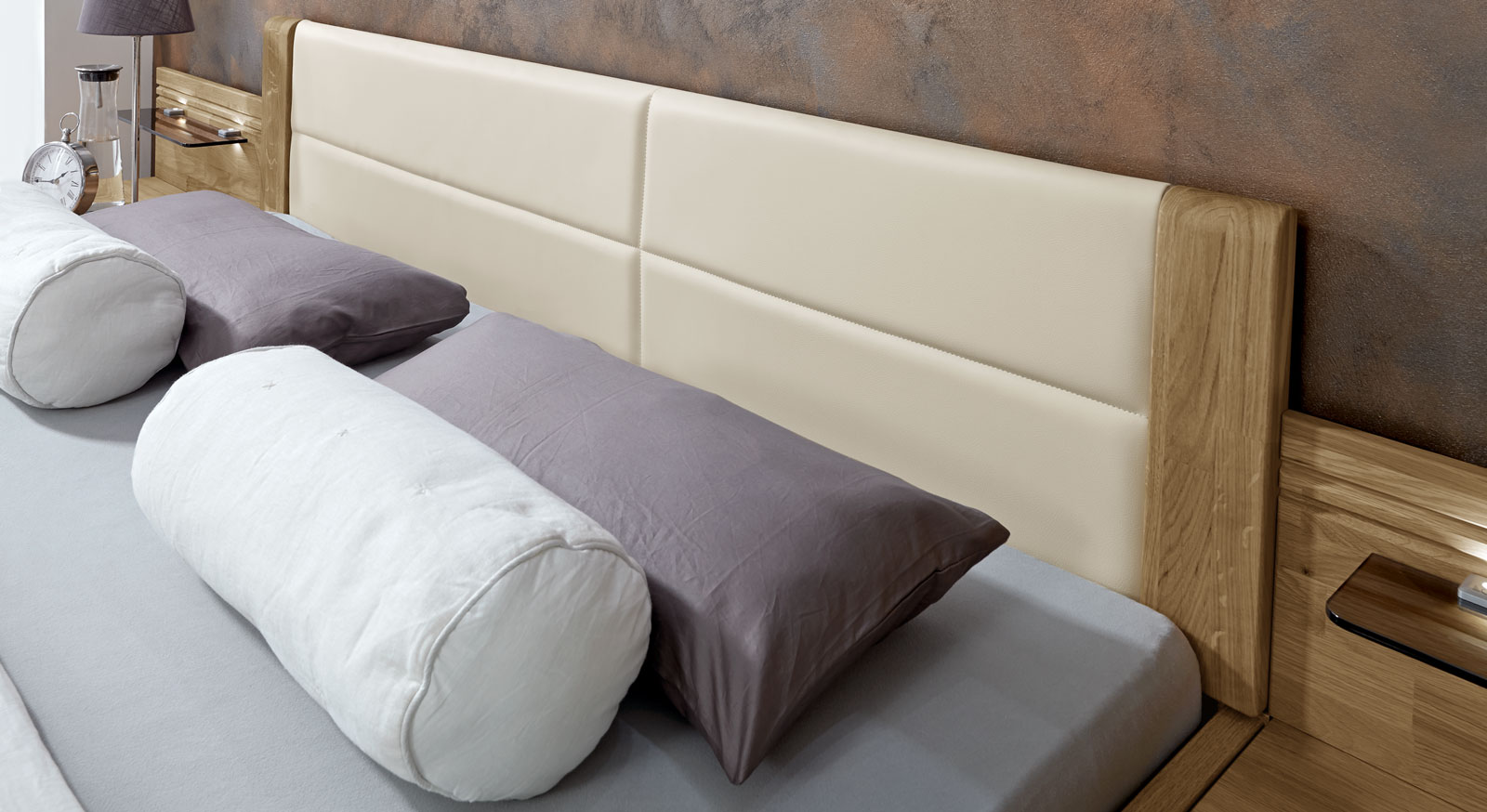 Schubkasten-Doppelbett Toride mit optionalem Kunstlederkopfteil