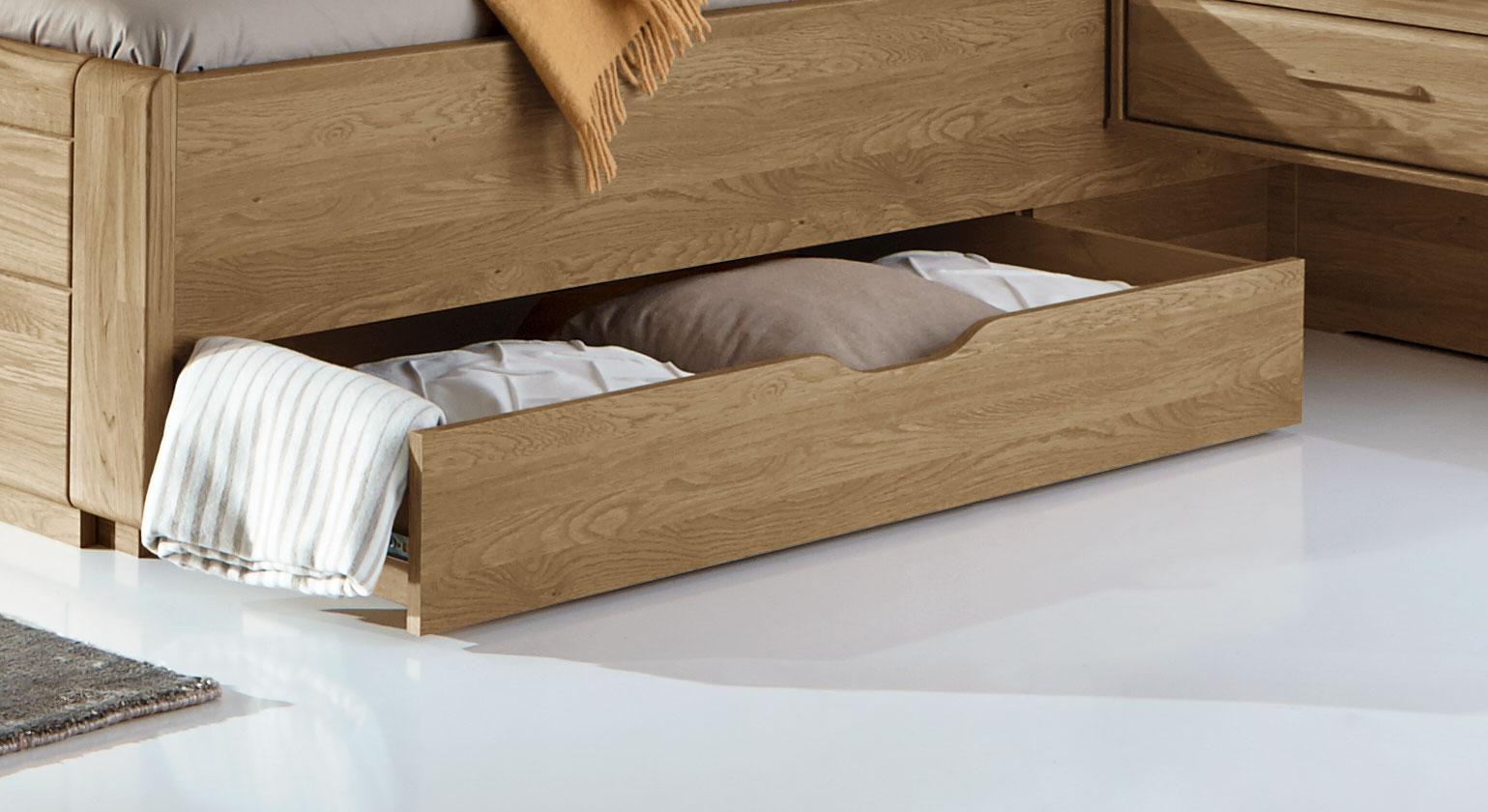Schubkasten-Doppelbett Toride bietet praktischen Stauraum