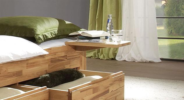 Schubkasten-Liege Andalucia mit optionalem Nachttisch