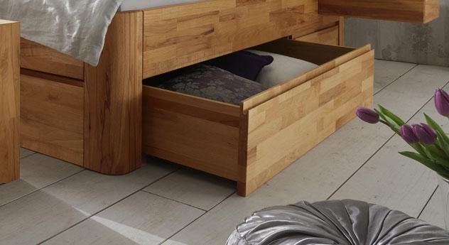 Schubkasten-Liege Zarbo mit Bettschublade und Fuß