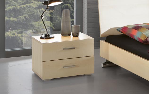 Schubladen-Nachttisch Cubo aus MDF in Ahorn