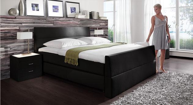 luxus spring box bett vineyard mit bel ftung. Black Bedroom Furniture Sets. Home Design Ideas