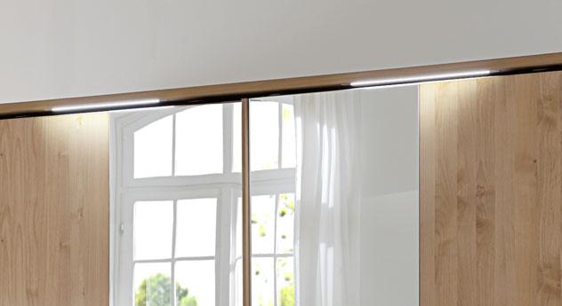 Schwebetüren-Kleiderschrank Ageo optional mit LED-Beleuchtung