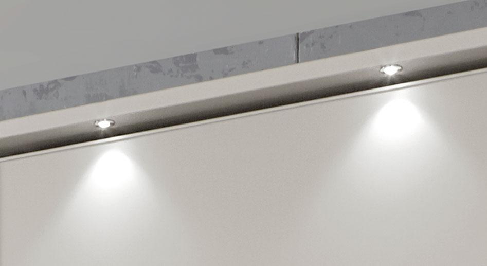 Schwebetüren-Kleiderschrank Baria mit optionaler LED-Beleuchtung