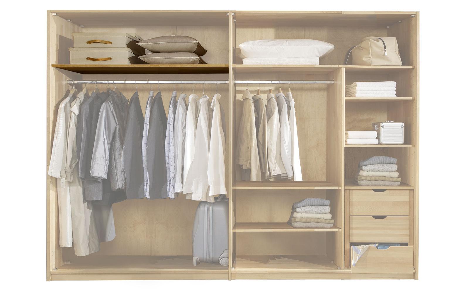 Einlegeboden mit 150cm Breite für 300cm breiten Kleiderschrank