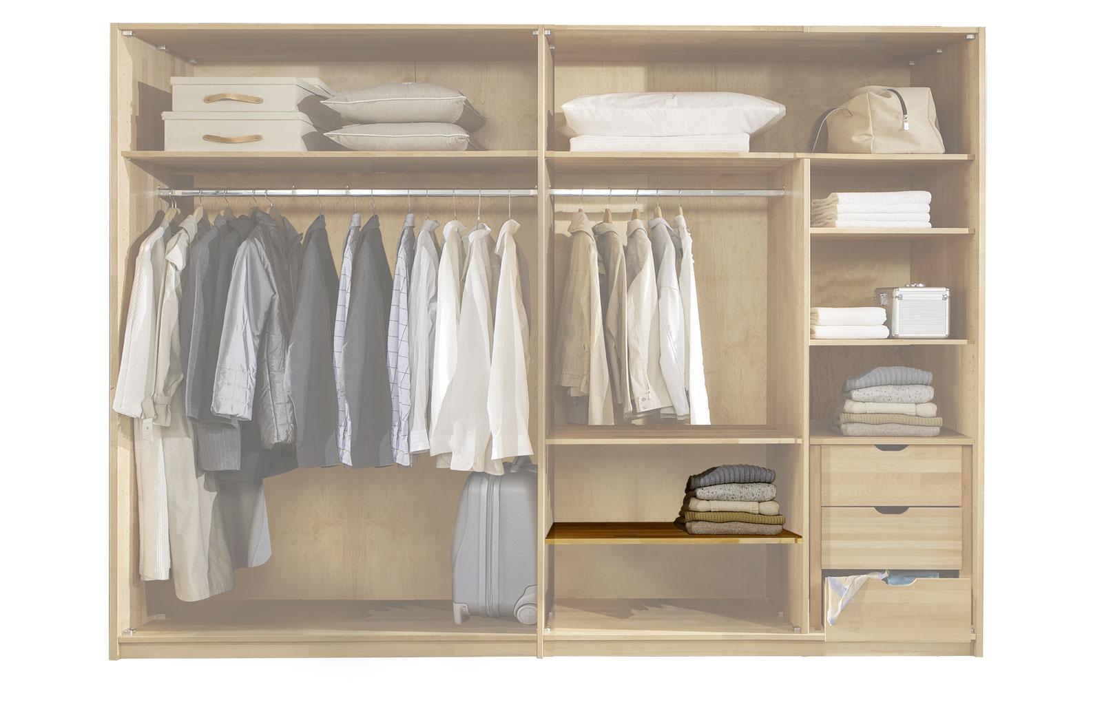 Fachboden mit 100cm Breite für Kleiderschränke