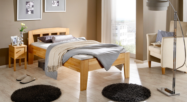 bett tessin in buche als einzelbett bei erh ltlich. Black Bedroom Furniture Sets. Home Design Ideas
