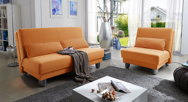 Schlafsofa Shenandoah uni in Orange.