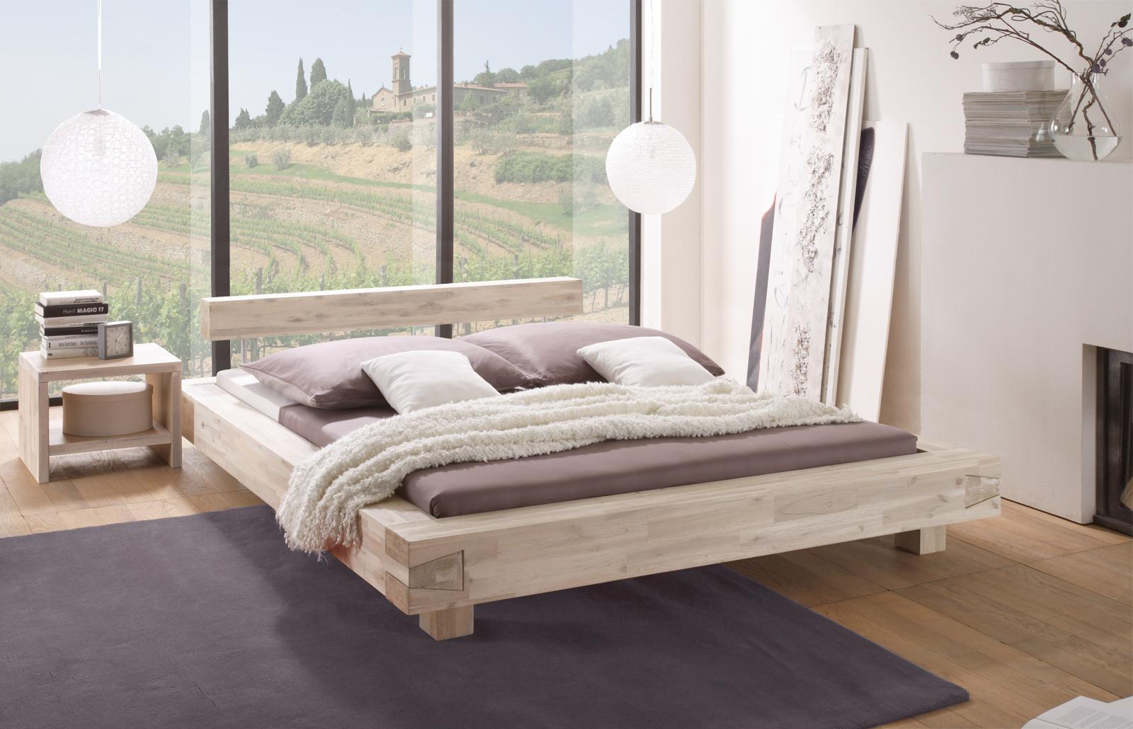 futonbett aus akazien massivholz sizilien. Black Bedroom Furniture Sets. Home Design Ideas