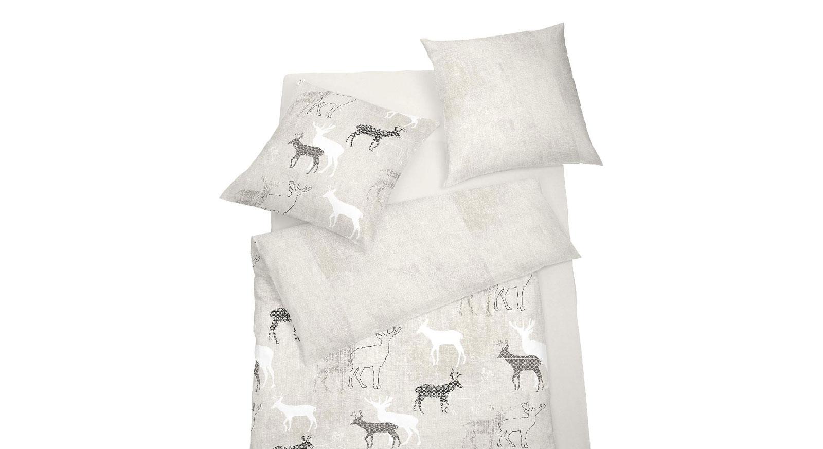 Moderne Wendebettwäsche Wintertime aus Soft-Touch-Cotton