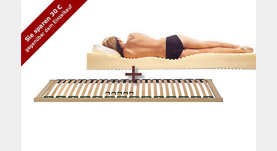 Mittelklasse-Set Linevita Combi Matratze Lattenrost