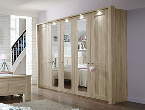 Schlafzimmerschrank modern mit spiegel  Kleiderschränke mit Spiegel für das Schlafzimmer | BETTEN.de