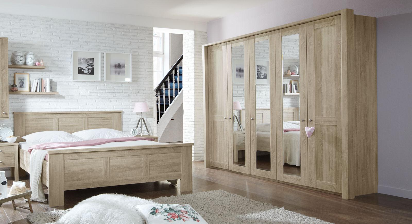 Spiegel-Drehtüren-Kleiderschrank Farim inklusive Passepartout-Rahmen