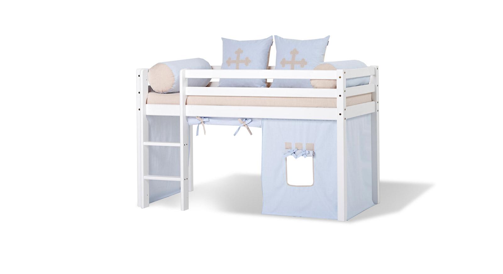 Spielvorhang Kids Heaven mit Prinz-Design in Blau