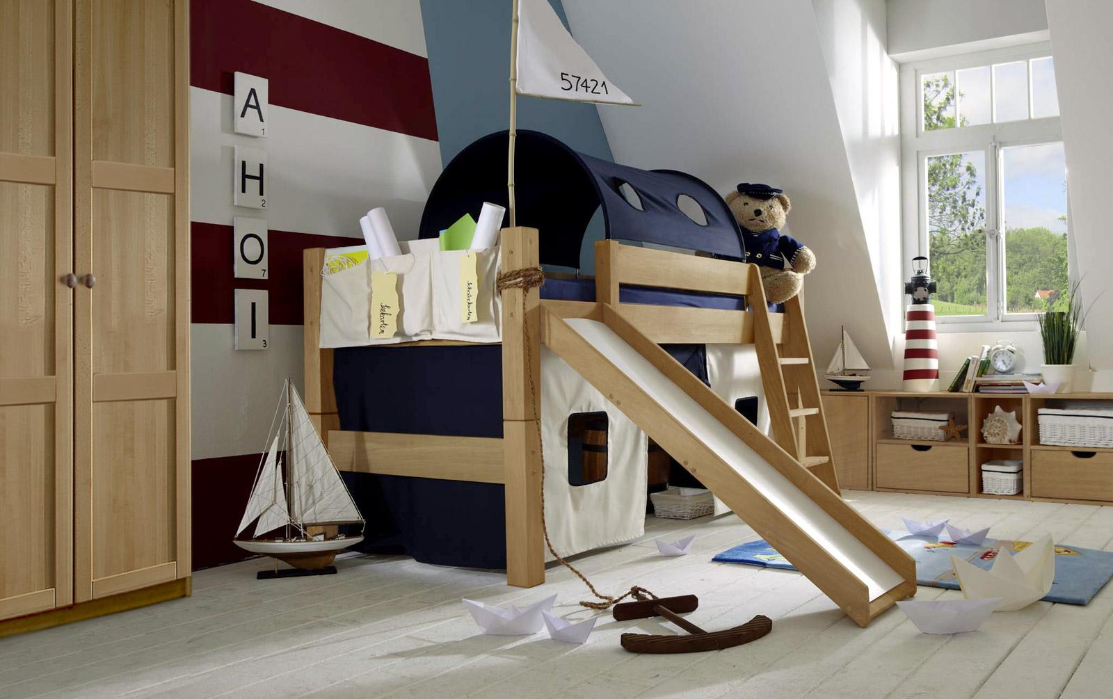 Spielvorhang Mini-Hochbett Kids Paradise in Marine und Natur