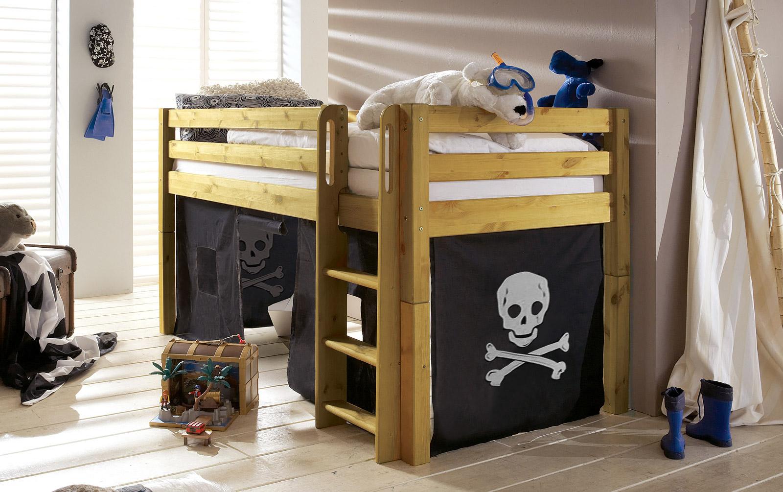 Pirat Spielvorhang Mini-Hochbett