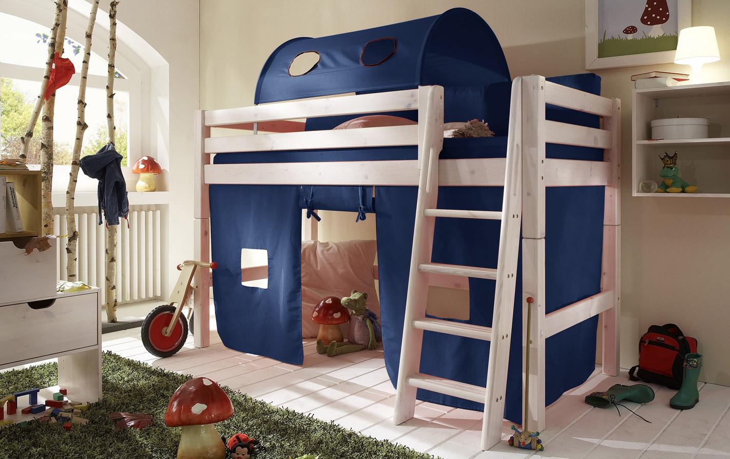 Spielvorhang blau für Kids Paradise Mini Hochbett