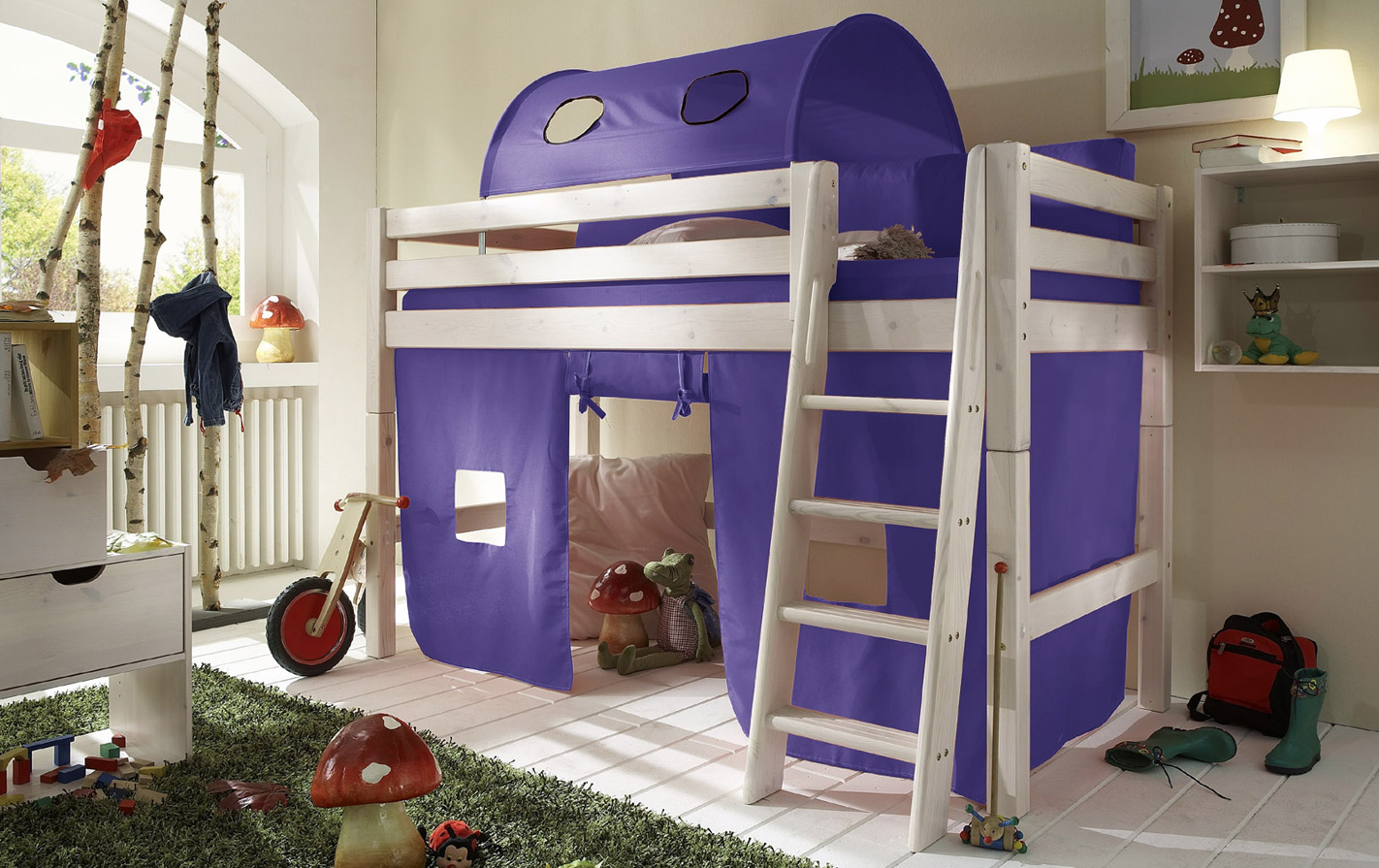 Spielvorhang Kids Paradise Mini in uni lila.