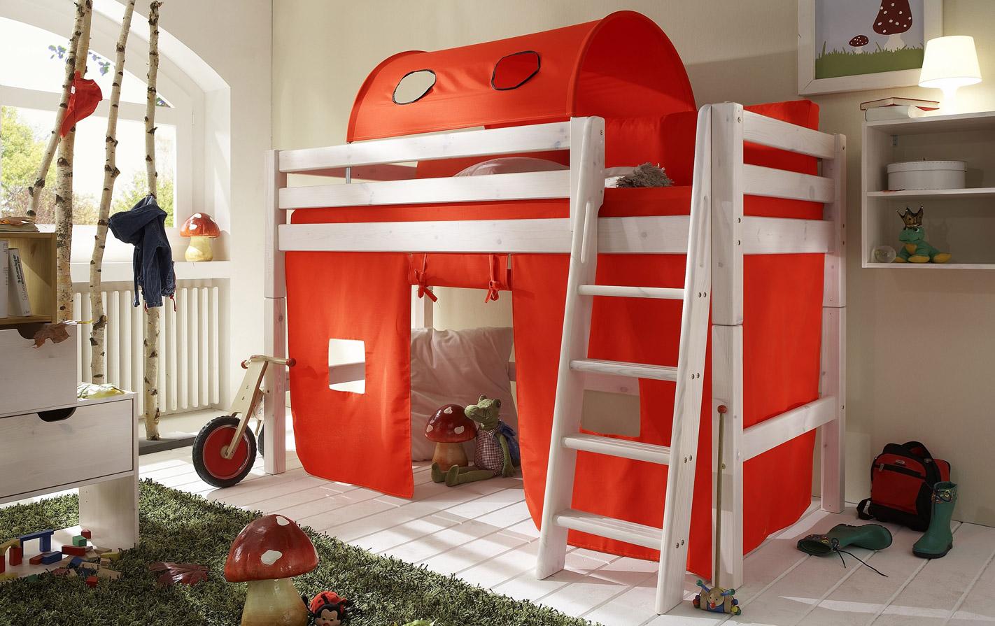 Spielvorhang orange für Kids Paradise Mini Hochbett