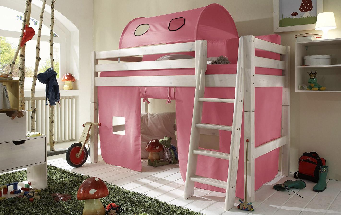 Spielvorhang rosa für Kids Paradise Mini Hochbett