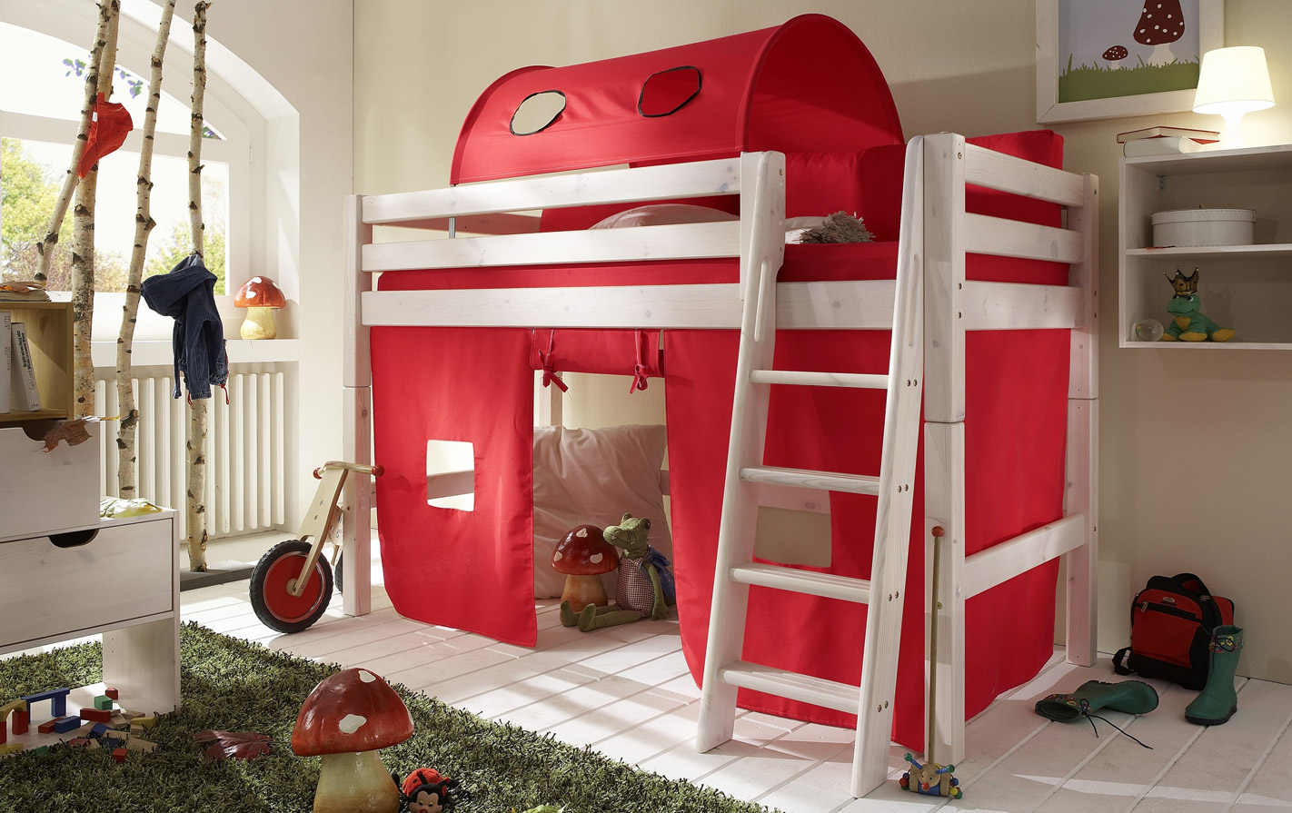 Spielvorhang Kids Paradise Mini in uni rot
