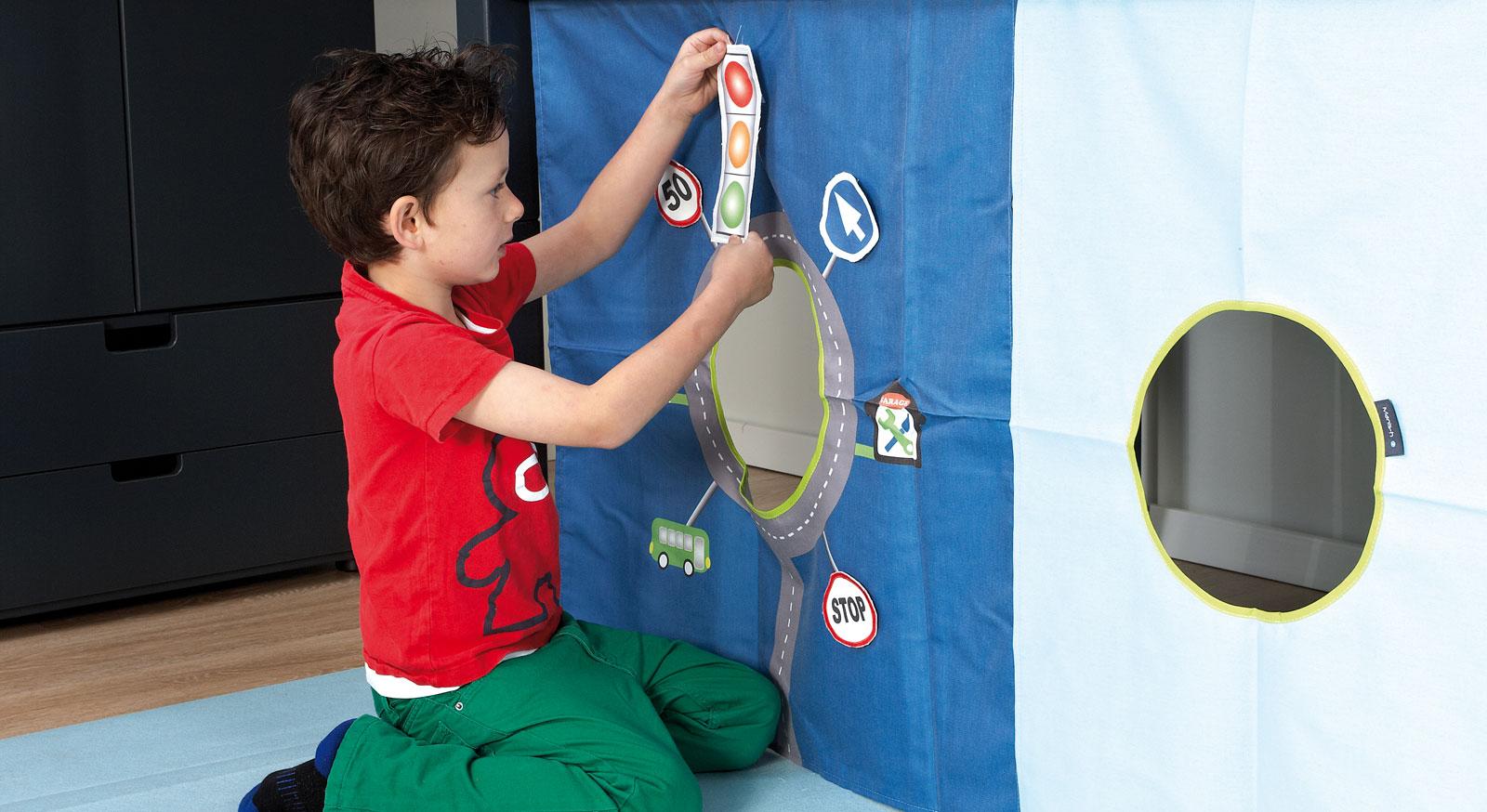 Spielvorhang Kids Town mit interaktiver Spielfunktion