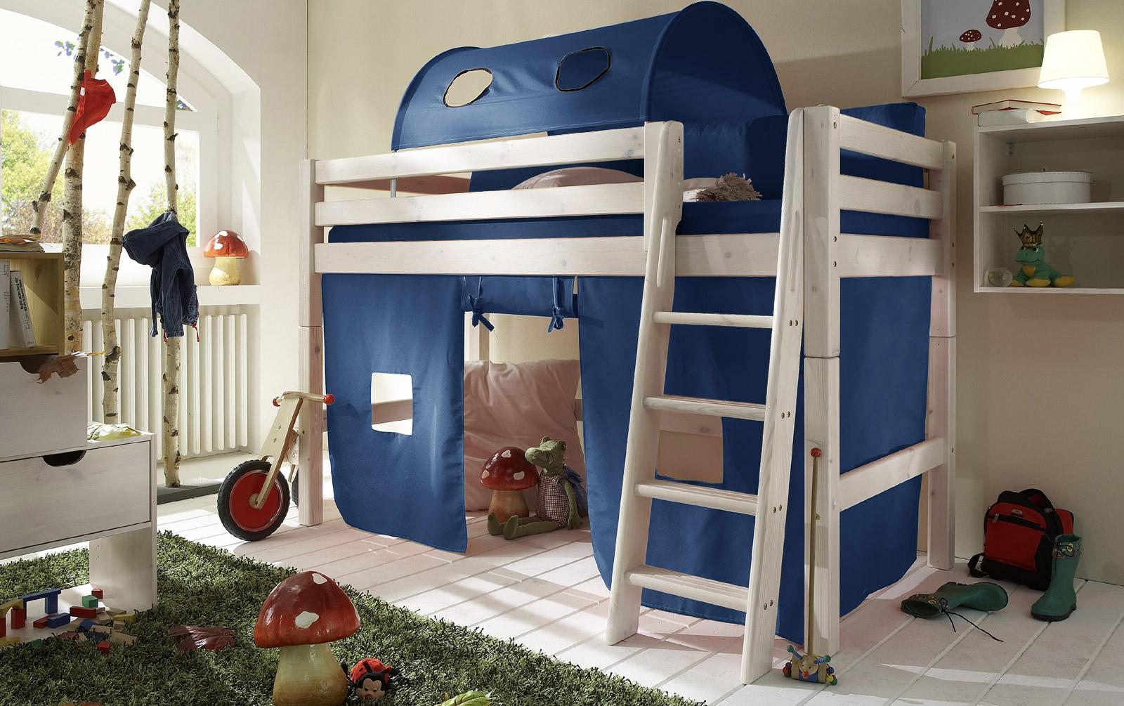 Spielvorhang Kids Paradise Midi uni blau