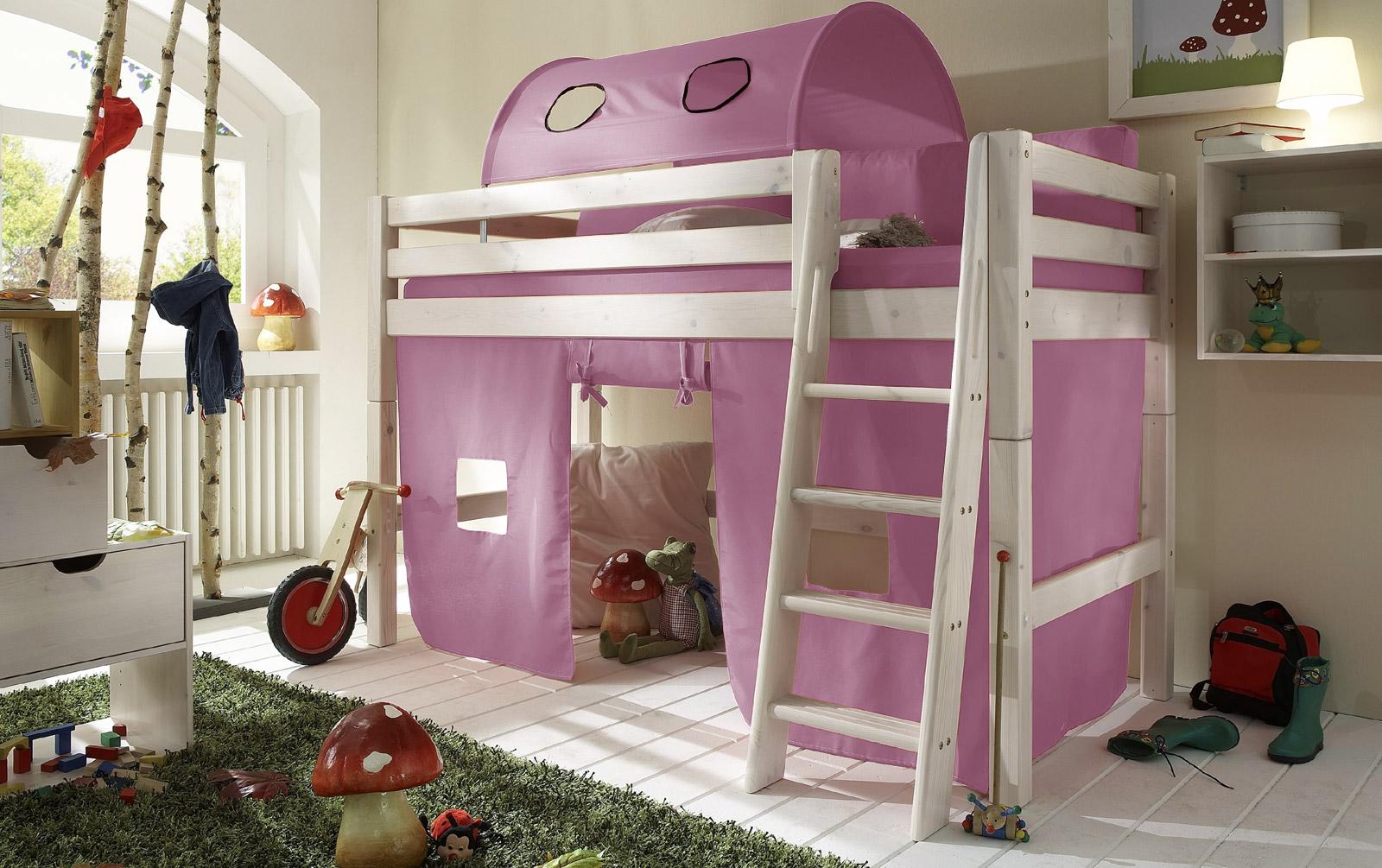 Spielvorhang Kids Paradise für Midi-Betten in uni flieder