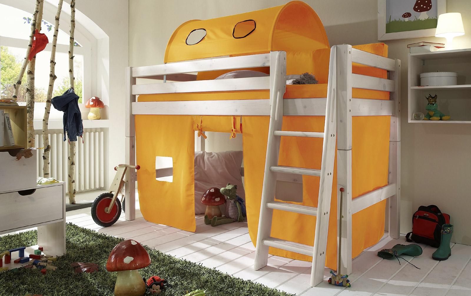 Spielvorhang Kids Paradise Midi uni gelb