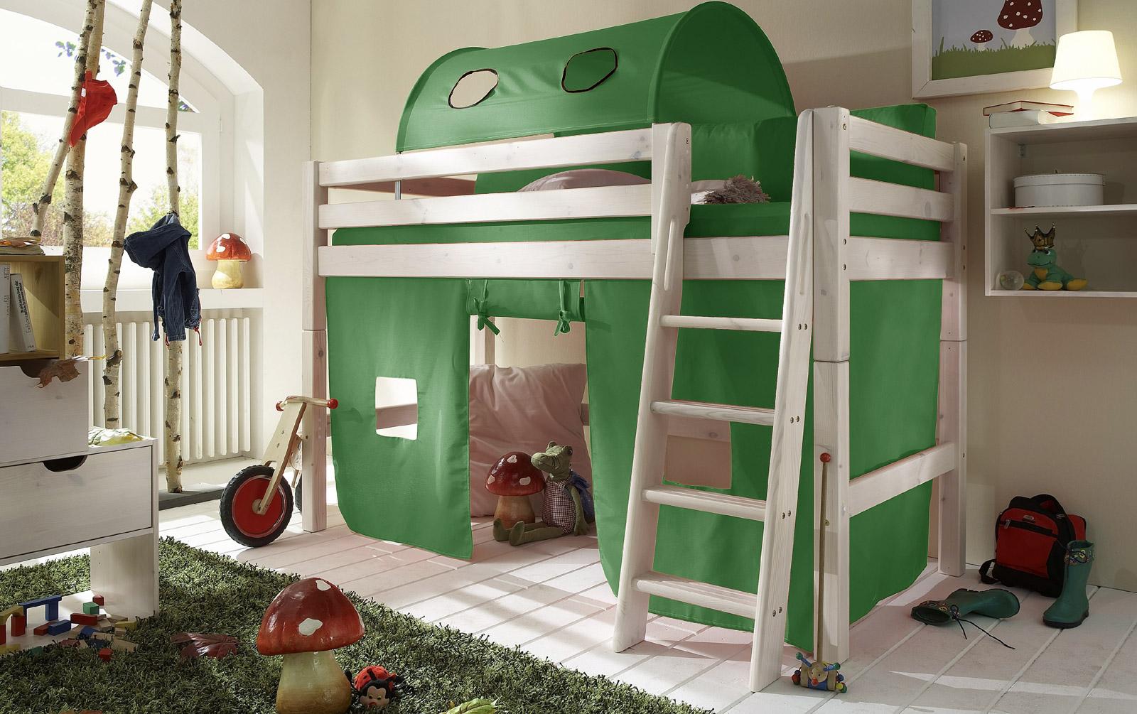 Spielvorhang Kids Paradise Midi uni grün