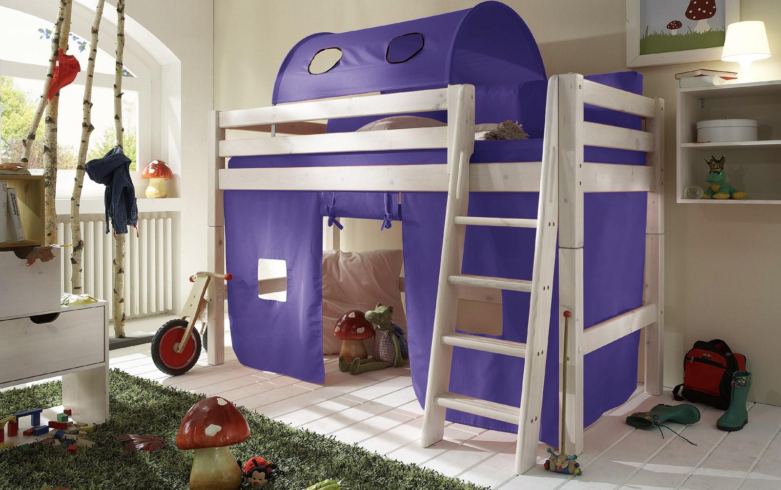 Spielvorhang Kids Paradise für Midi-Betten in uni lila
