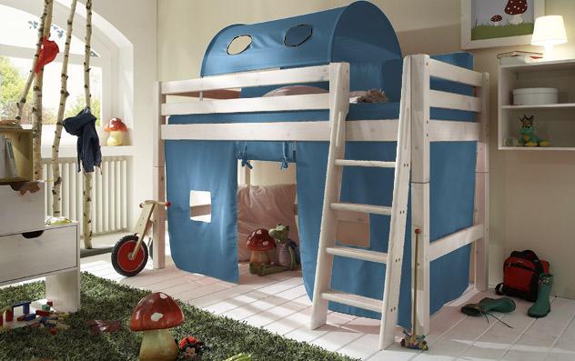 Spielvorhang Kids Paradise für Midi-Betten in uni petrol