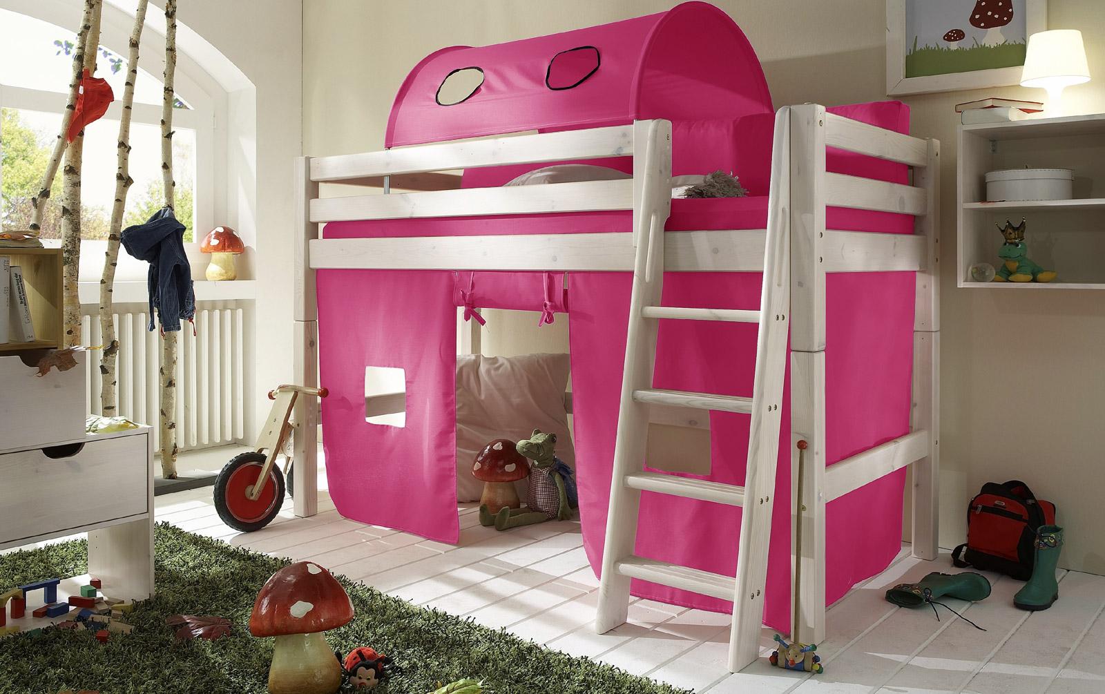 Spielvorhang Midi-Hochbett Kids Paradise Pink