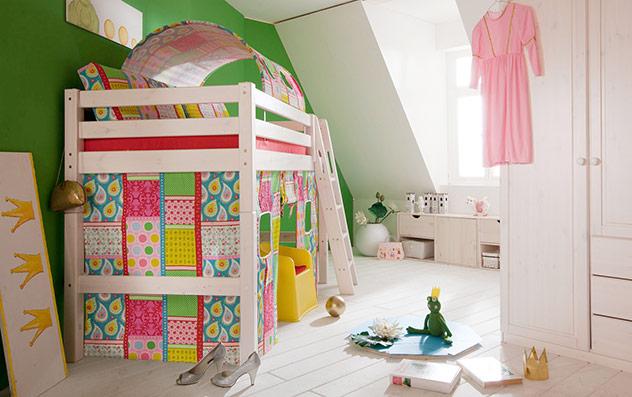 """Spielvorhang Mini-Hochbett """"Kids Paradise"""" - in """"Blutterfly""""."""
