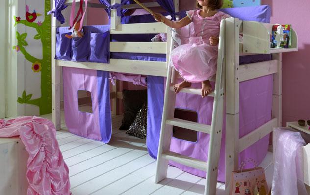 Spielvorhang Kids Paradise für Midi-Betten in rosa lila