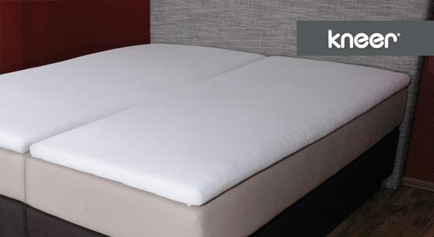boxspring spannbetttuch f r split topper kopf und fu teil. Black Bedroom Furniture Sets. Home Design Ideas