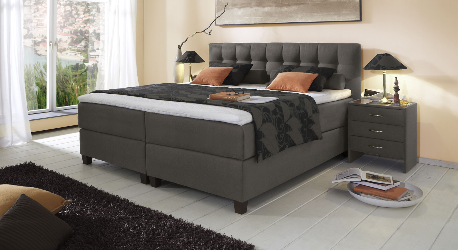 boxspringbett luciano z b in gr e 180x200cm. Black Bedroom Furniture Sets. Home Design Ideas