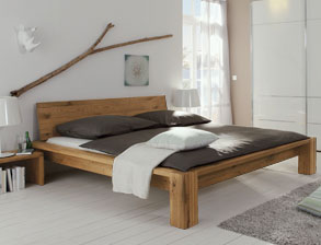 stabile massivholzbetten in 180x200 cm online kaufen. Black Bedroom Furniture Sets. Home Design Ideas