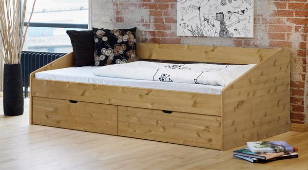 schönes einzelbett aus buche in 90x200 cm - bett dänemark, Hause deko