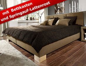 polsterbetten mit bettkasten hier bestellen. Black Bedroom Furniture Sets. Home Design Ideas
