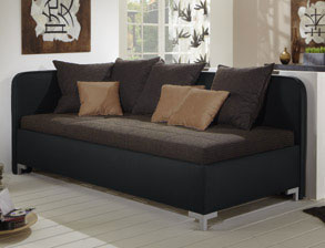 schlafsofas aus leder mit bettkasten kaufen. Black Bedroom Furniture Sets. Home Design Ideas