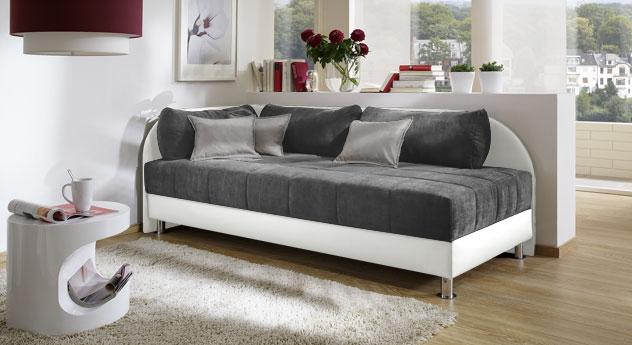 studioliege enea polsterliege in 90x200cm mit bettkasten. Black Bedroom Furniture Sets. Home Design Ideas
