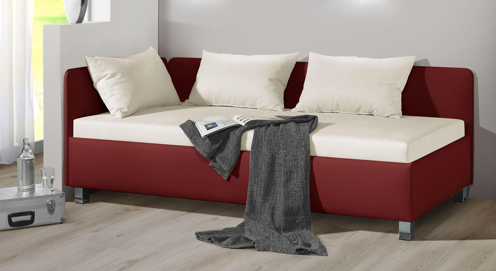 studioliege mit bettkasten in z b 100x200 cm kaufen lisala. Black Bedroom Furniture Sets. Home Design Ideas