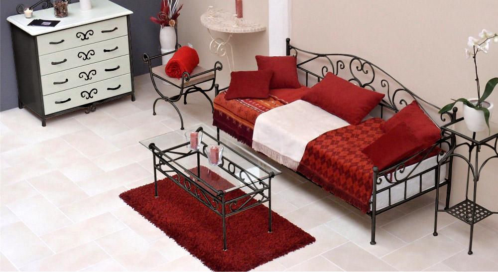 Nicht ausziehbares Tagesbett Gora in Anthrazit