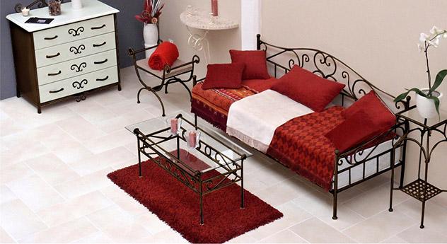 Nicht ausziehbares Tagesbett Gora in Braun