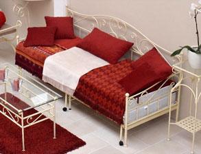 edles tagesbett gora aus handgeschmiedetem eisen - Modernes Tagesbett Mit Ausziehbett