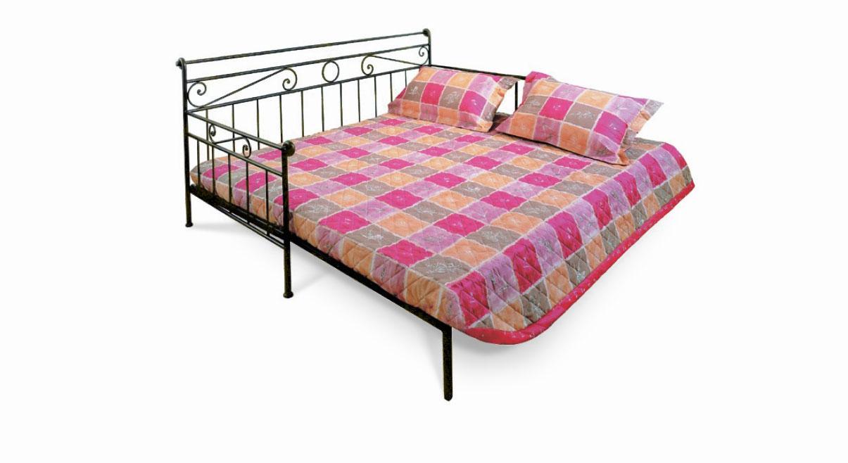 Tagesbett ausziehbar  Nostalgisches Tagesbett aus Metall 80x200 cm - Plata