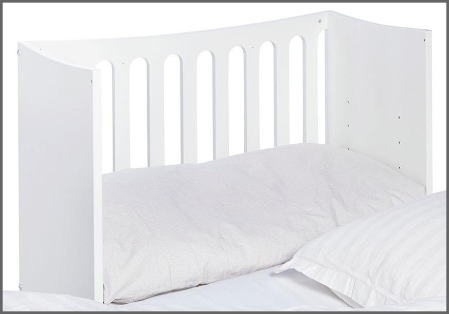 Anstellbett Kids Town in Weiß