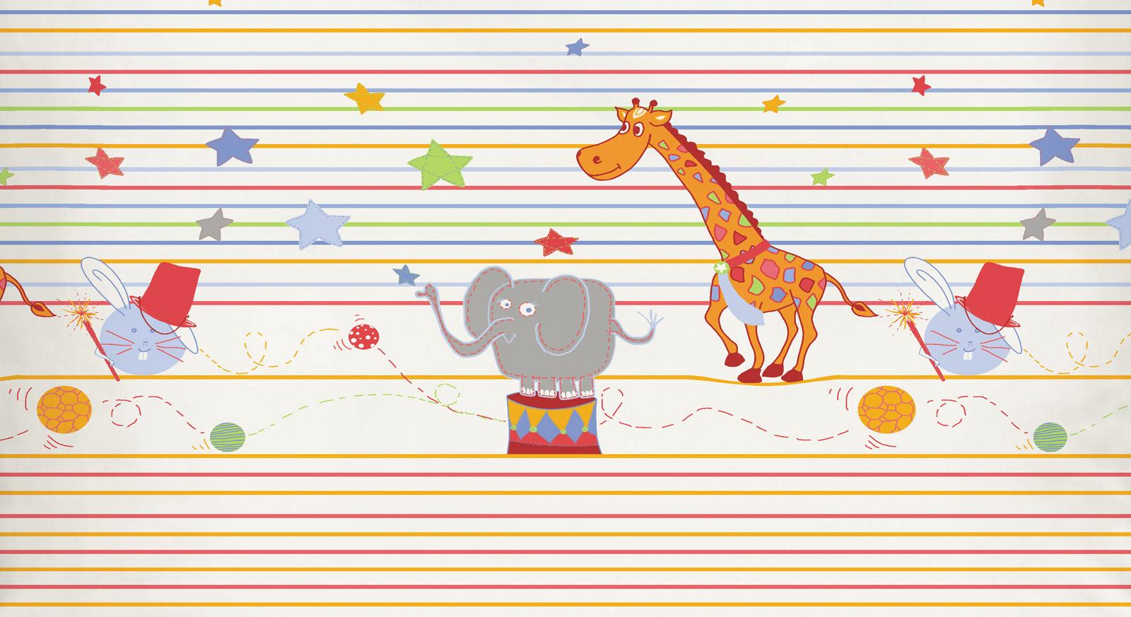 Tolle Qualitäts Kinderbettwäsche im Zirkus Design!
